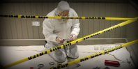 Cold Case Investigators - Can you and your forensics team crack the case, all while handcuffed to the wall?