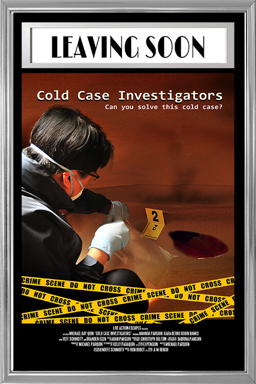 Cold Case Investigators - Can you and your forensics team recreate the crime and find the location of The Puzzlemaster in time?