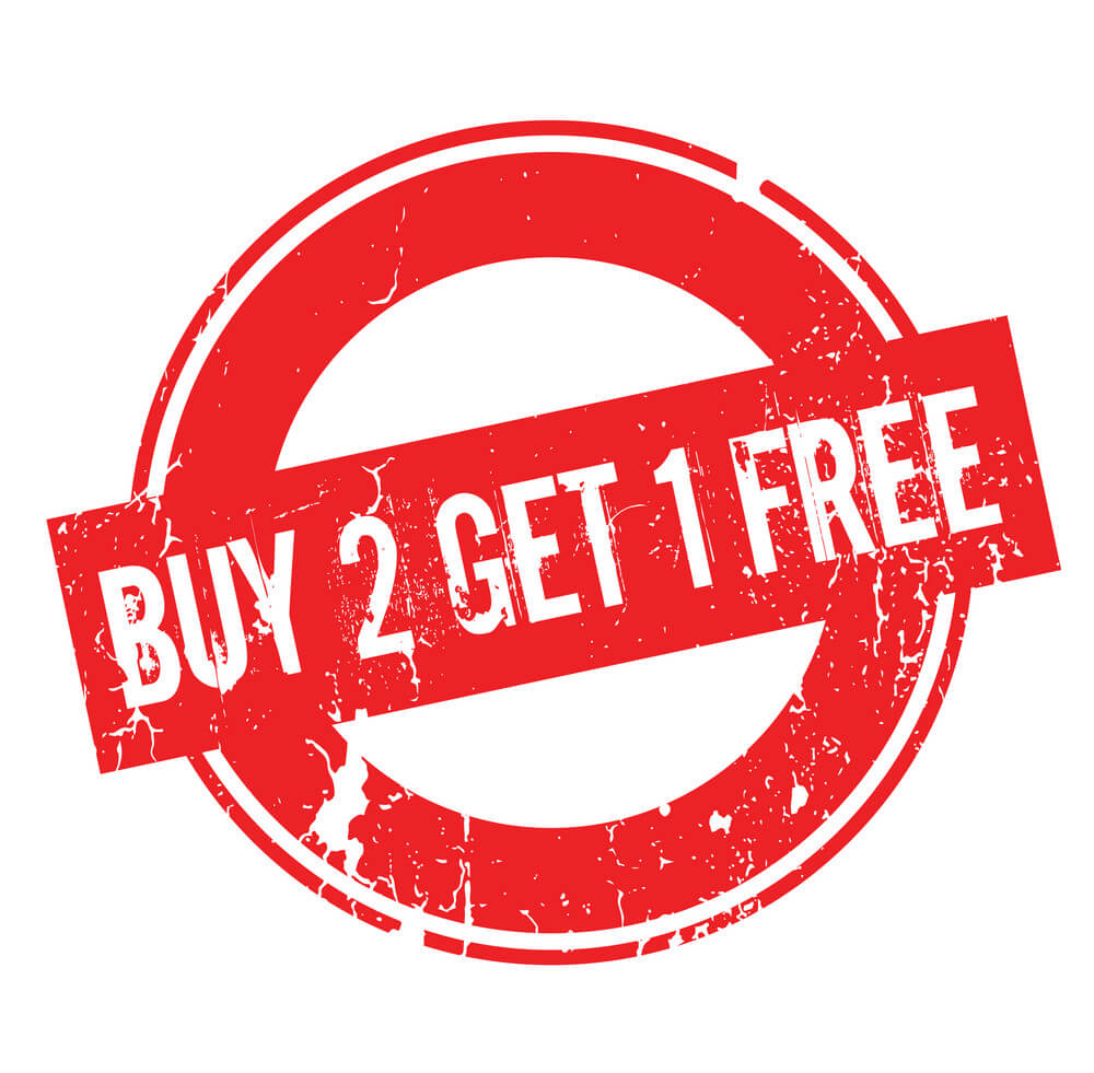 Buy: Buy 2 Get 1 Free This Sunday Only!